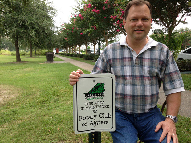 Rotary Club of Algiers continues to maintain front entrance of City Park