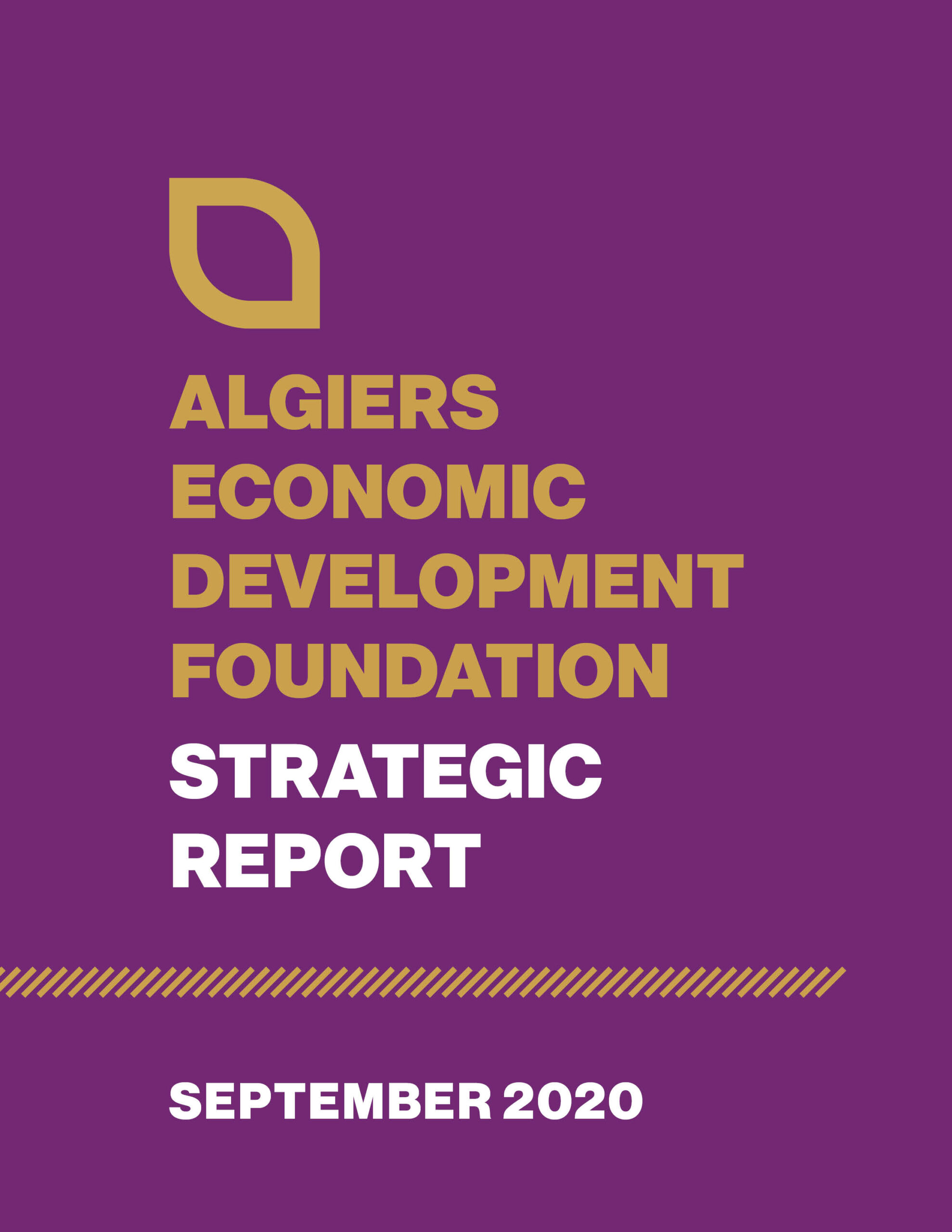 Algiers Economic Development Foundation Strategic Report Cover